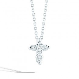 White Gold Baby Cross Pendant with Diamonds