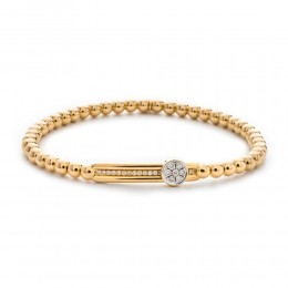 Hulchi Belluni Stretch Bracelet, 18K Yellow Gold