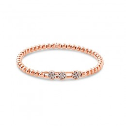 Hulchi Belluni 18k rose gold and diamond Tresore Bracelet