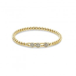 Hulchi Belluni Tresore Stretch Bracelet, 18K Yellow Gold