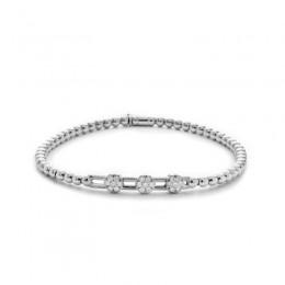 Hulchi Belluni 18k white gold & diamond Tresore Bracelet