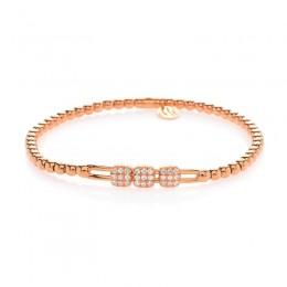 Hulchi Belluni 18k rose gold & diamond Tresore Bracelet