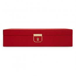 WOLF1834 Medium Red Palermo Jewelry Box.