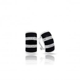 Regal Stripe Onyx Earrings