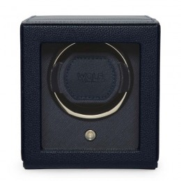 WOLF1834 single Cub watch winder with a navy pebble finish