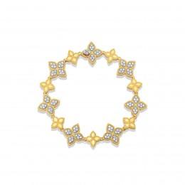 ROBERTO COIN LINK BRACELET WITH DIAMONDS