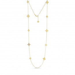 ROBERTO COIN STATION NECKLACE WITH DIAMONDS