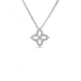 Roberto Coin Princess Flower Small Diamond Pendant
