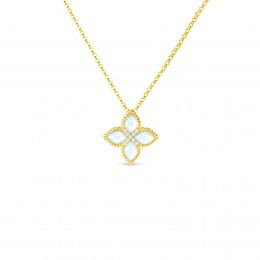 ROBERTO COIN 18KT MED MOTHER-OF-PEARL & DIAMOND PENDANT
