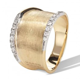 Lunaria Gold & Diamond Pave Small Ring