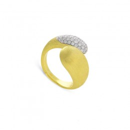 Marco Bicego® Lucia Collection 18K Yellow Gold And Diamond Hugging Ring