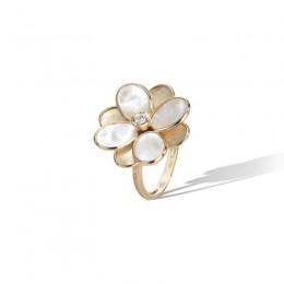 Petali Mother-of-Pearl Diamond Flower Ring