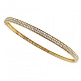 18KT 1.00CT YELLOW GOLD DIAMOND BANGLE