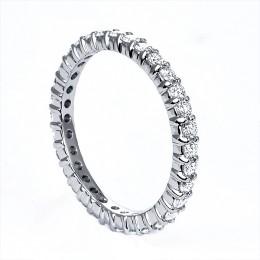 Platinum .75 carat round diamond mutual prong eternity band
