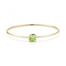 A & Furst Gaia Bangle Bracelet with Peridot, 18K Yellow Gold