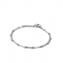 Bamboo 2.5MM Link Bracelet in Silver