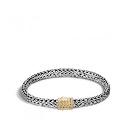 Classic Chain Silver and 18K Gold Small Bracelet