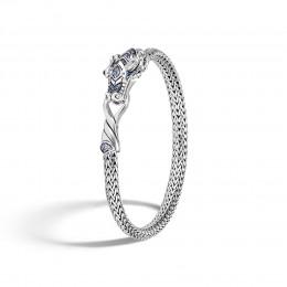 Legends Naga 5MM Station Bracelet in Silver with Gemstone
