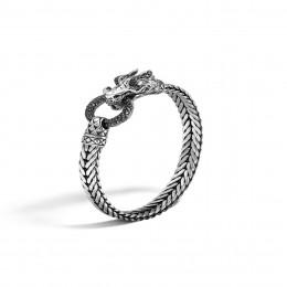 Legends Naga 7MM Station Bracelet in Silver with Gemstone