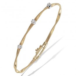 Marrakech Yellow Gold & Diamond Stackable Bangle