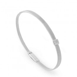 Marco Bicego Masai Collection 18K White Gold Bracelet With One Diamond Station Totaling 0.07Cts.