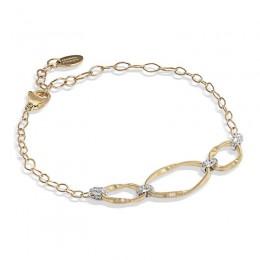 Marrakech Onde Gold Three Link Bracelet