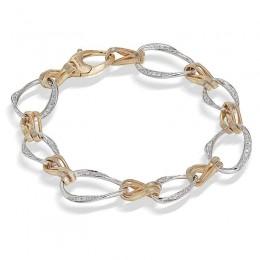 Marrakech Onde Gold Diamond Link Bracelet