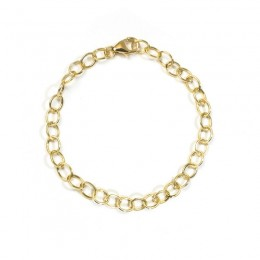 Syna 18 karat yellow gold 7.25 inch bracelet without charm.