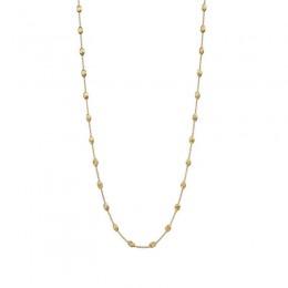 "Marco Bicego ""Siviglia"" 18 Karat Yellow Gold Bead Necklace. 39.25 Inches Long."