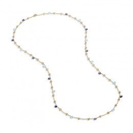 Paradise Iolite and Blue Topaz  Long Necklace