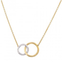 "Marco Bicego ""Jaipur Link"" 18Kt. Yellow & White Gold Necklace Set Wit .14 Carats Of Diamonds. 16.5 Inch."