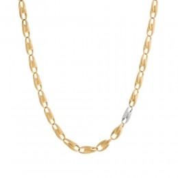 Marco Bicego® Lucia Collection 18K Yellow Gold And Diamond Medium Link Chain Necklace