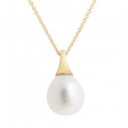 Africa Boules 18K Yellow Gold And Pearl Pendant