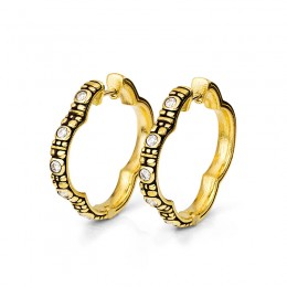 "Alex Sepkus ""Quatrefoil"" Huggie Earrings"
