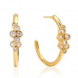 SYNA Champagne Diamond Earrings