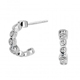SYNA JEWELS 18KWG MINI HOOP EARRINGS