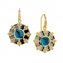 SYNA Mogul Gemstone And Diamond Earrings