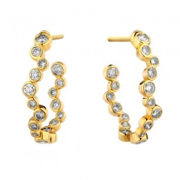 SYNA Champagne Diamond Baubles Hoops