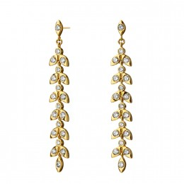 SYNA Jardin Diamond Leaf Earrings