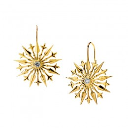 SYNA 18K Yellow Gold Starburst Earrings