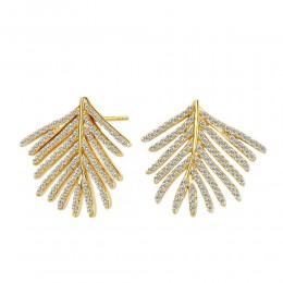 SYNA Jardin Palm Leaf Diamond Earrings