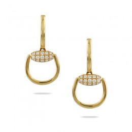 18K Yellow Gold Diamond Earring