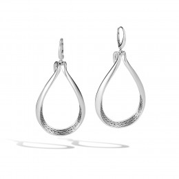 Asli Classic Chain Link Drop Earring in Silver