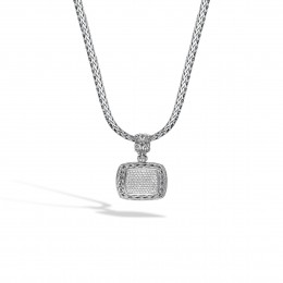 Classic Chain Enhancer in Silver with Diamonds