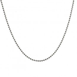 Syna 18 inch blackened sterling silver ball chain with lobster lock/interval at 17 inch.