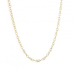 SYNA 30inch 18k Yellow Gold Large Link Chain