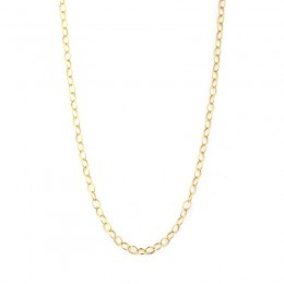 SYNA 18 Inch 18K Yellow Gold Medium Link Chain