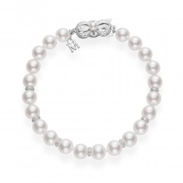 Mikimoto Akoya Pearl and Diamond Bracelet