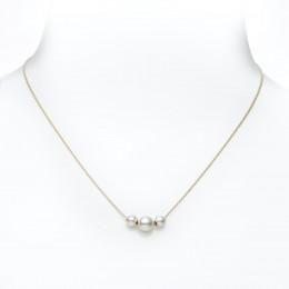 Mikimoto 3 Akoya Pearls Pendant