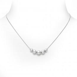 Mikimoto 5 Akoya Pearls Pendant